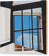 Window Treatment Wood Print
