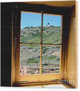 Window View 3 Wood Print