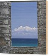 Window View At Fayette State Park Michigan Wood Print