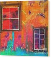 Window Watching  Outside Looking In Wood Print