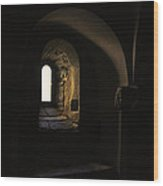Window With Light Wood Print