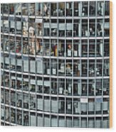 Windows Again, Berlin Wood Print by Eike Maschewski
