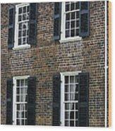 Windows At The Clover Hill Tavern Appomattox Virginia Wood Print