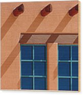 Windows Blue Wood Print