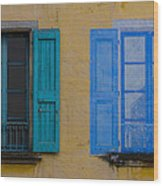 Windows Wood Print by Debra and Dave Vanderlaan