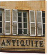 Windows Of Antiquites Wood Print