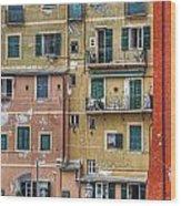 Windows Of Camogli Wood Print