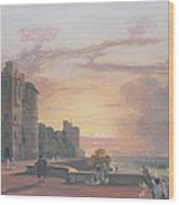 Windsor Castle North Terrace Looking West At Sunse Wood Print