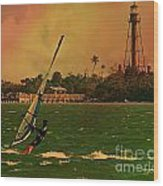 Windsurfer In Paradise Wood Print