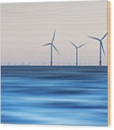 Windturbines, Burbo Bank, Crosby Wood Print