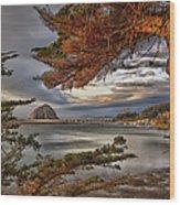 Windy Cove Wood Print