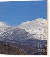 Windy Day At Mt Washington Wood Print