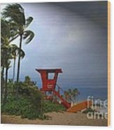 Windy Day In Haleiwa Wood Print