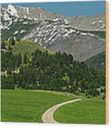 Windy Road To The Crazy Mountains Wood Print