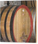 Wine Aging Wood Print