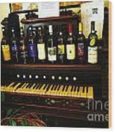 Wine And Song  Wood Print