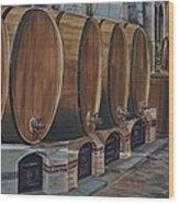 Wine Barrels Wood Print