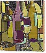 Wine Bottle Deco Wood Print