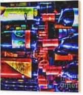 Wine Bottles Wood Print