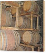 Wine Casks Wood Print