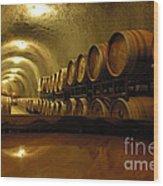 Wine Cellar Wood Print by Micah May