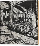 Wine Cellar Wood Print by William Cauthern