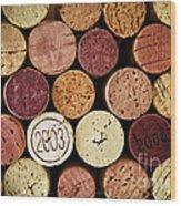 Wine Corks Wood Print by Elena Elisseeva