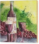 Wine For Two - 2 Wood Print