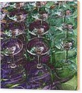 Wine Goblets Wood Print