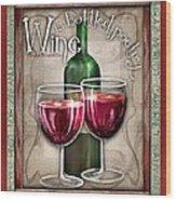 Wine Poetry Wood Print