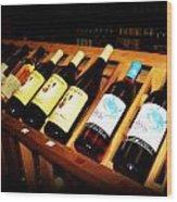Wine Rack Wood Print