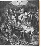 Wine Tasting, 1876 Wood Print by Granger