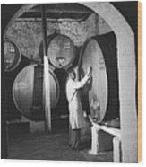 Wine Vaults Wood Print