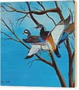 Wingin'  It Wood Print