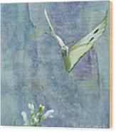 Winging It Wood Print by Betty LaRue