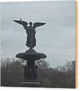 Wings In Central Park Wood Print