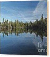 Wings In The Lake Wood Print