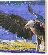 Wings On High Wood Print