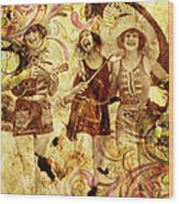 Winsome Women Wood Print