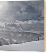 Winter Adventure Wood Print