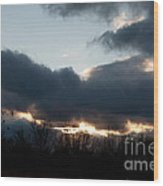 Winter Afternoon Clouds Wood Print