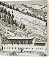 Winter Barn 1 Wood Print
