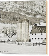Winter Barn 3 Wood Print