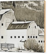 Winter Barn 4 Wood Print