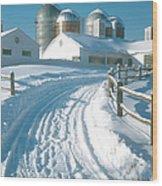 Winter, Ct Wood Print