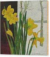 Winter Daffodils Wood Print