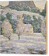 Winter Wood Print by Ernest Lawson