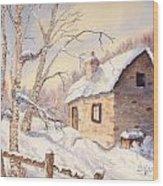 Winter Escape Wood Print