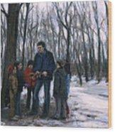 Winter Explorers Wood Print