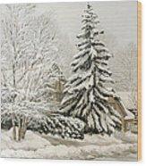 Winter Fairytale Wood Print